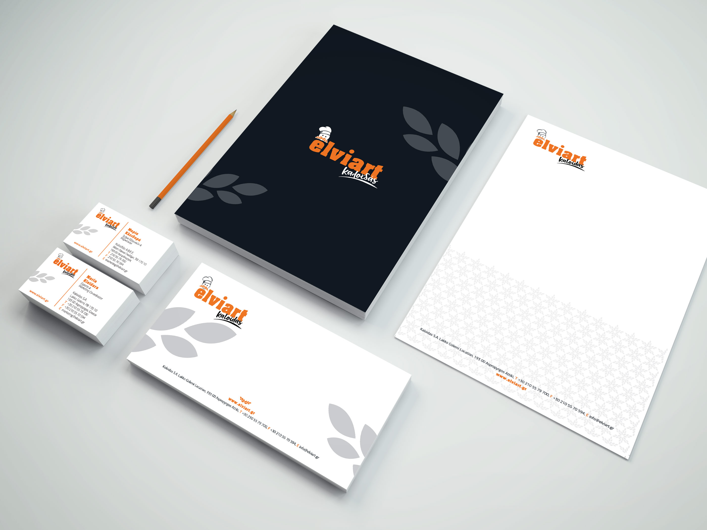 Elviart Stationary Mockup